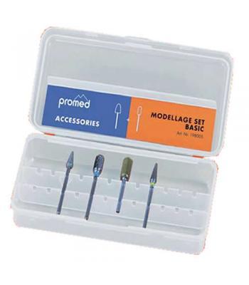 """Набор фрез для маникюра базовый Promed  """"Basic"""", искусственные ногти, моделирование, Art. 198005"""